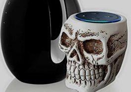 Skull Statue Crafted Guard Station For Amazon Echo Dot Review